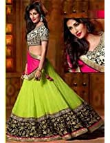 Ethnic Trend Georgette Bollywood Replica Lehenga - 5308 (Pink/Parroat)