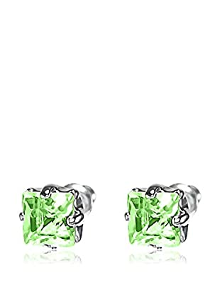Passion Obscure Pendientes  Plateado / Verde Claro