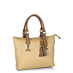 Cream Tote Handbag
