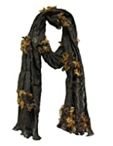 Anekaant Solid Polyester Women's Scarf (Brown)