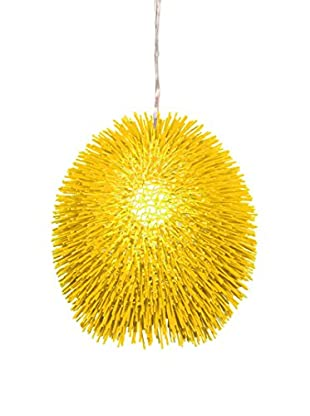 Varaluz Urchin 1-Light Pendant, Un-Mellow Yellow