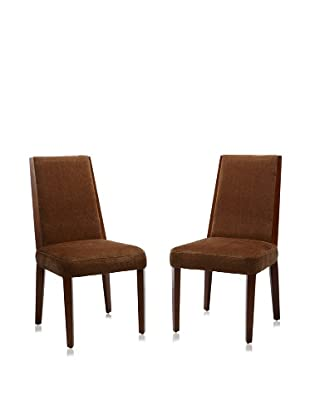 Armen Living Set of 2 Neo Side Chairs (Tobacco)