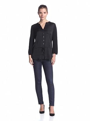 Calvin Klein Women's Henley Tunic (Black)