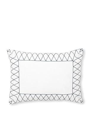Vera Wang Shibori Decorative Pillow, White, 12