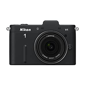Nikon デジタル一眼カメラ Nikon 1 (ニコンワン) V1 (ブイワン) 薄型レンズキット ブラックN1 V1ULK BK