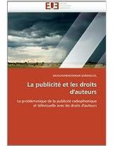 La Publicite Et Les Droits D''Auteurs (Omn.Univ.Europ.)