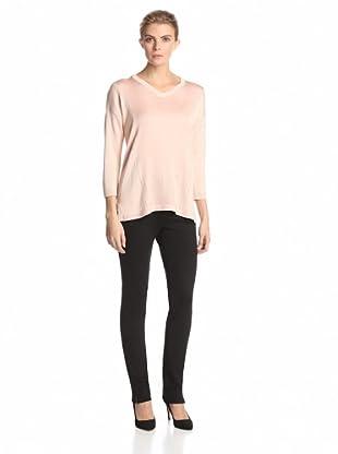 Calvin Klein Women's V-Neck Pullover Sweater (Blush)