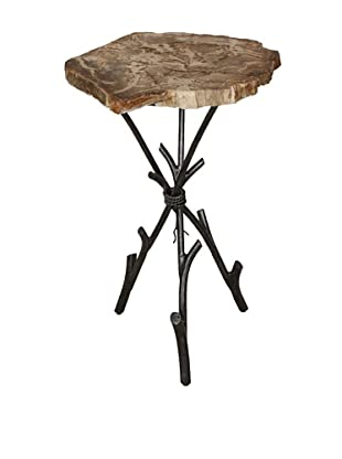 Control Brand Good Form Petrified Wood Smoking Table with Tripod Base, Black