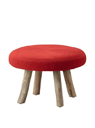 Taburete Madera United Rojo