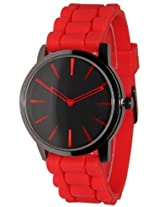 New Geneva Red w/ Black Silicone Watch