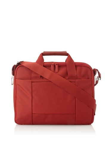 Mandarina Duck Double-Handle Briefcase with Removable Laptop Bag (Fuoco)