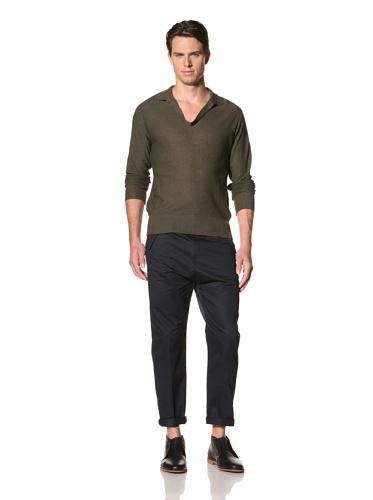 Camo Men's Miagliano Knit Polo (Olive)