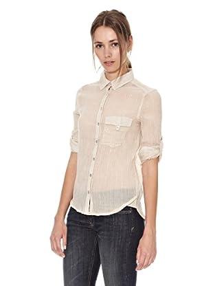 Mango Camisa Chemise (Beige)