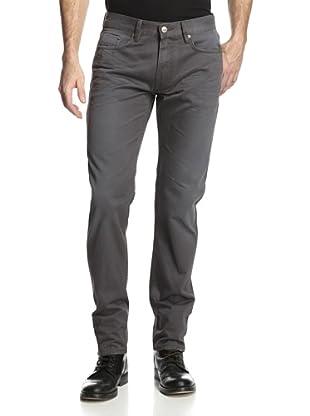 Denim & Leathers by Andrew Marc Men's Road Dirt Slim Fit Jean (Steel)
