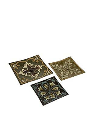 Set of 3 Casa Medallion Trays