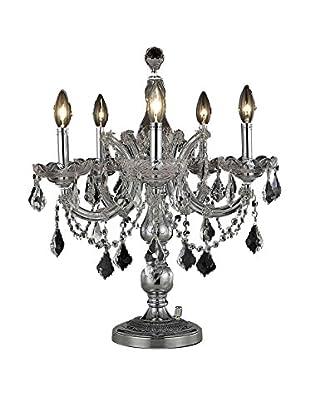 Crystal Lighting Maria Theresa Table Lamp, Chrome