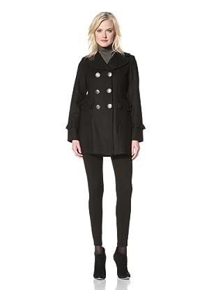 Kensie Women's Double-Breasted Coat (Black)