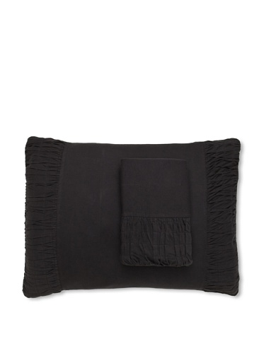 lazybones Set of 2 Pillowcases (Charcoal)