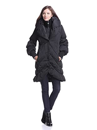 Elie Tahari Women's Emily Long Puffer Coat (Black)