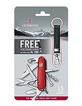 VICTORINOX Swiss Army Knife 15 Functions Huntsman Red Free Victorinox Belt Hanger Worth RS. 390 - 1.3713.B1