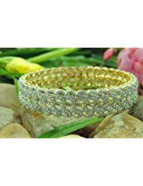 Bangles and bracelets - Gold Plated Silver AD Stone Artificial Indian Jewelry Bangles