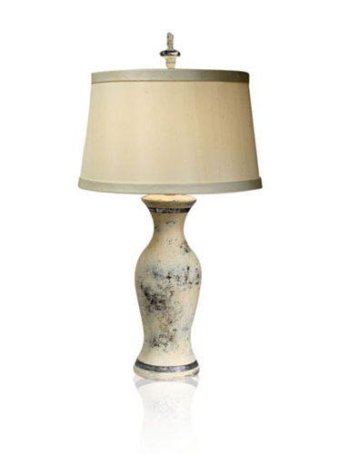 Aqua Vista Huldra Table Lamp, Cream/Brown/Silver