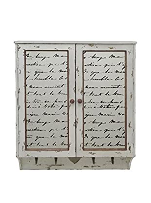 Three Hands Wood Wall Cabinet with Hooks