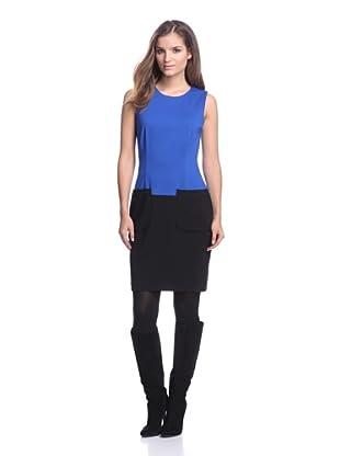 Calvin Klein Women's Colorblock Dress with Pockets (Celestial)