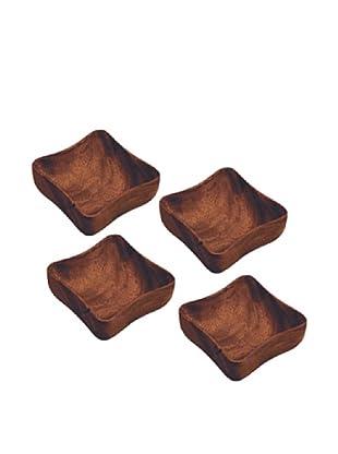 Acaciaware Set of 4 Individual 6