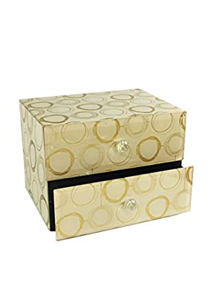 American Atelier Circles 2-Drawer Jewelry Box, Gold