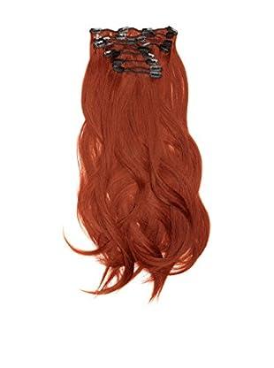 Love Hair Extensions Haarverlängerung Komplett-Set Silky Straight Thermofaser 45cm 10 Haarteile Rich Copper