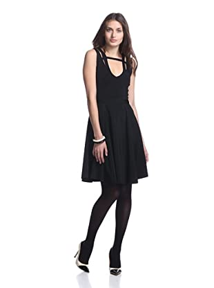 Stretta Women's Elodie Fit and Flare Dress (Black)
