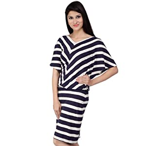 color cocktail Blue Cotton Women - Dresses