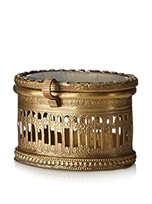 Blue Ocean Traders Oval Brass Box, Brass