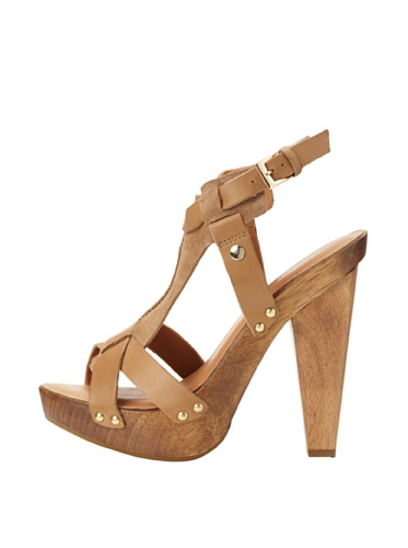 Madison Harding Women's Colter T-Strap Sandal (Sandy)