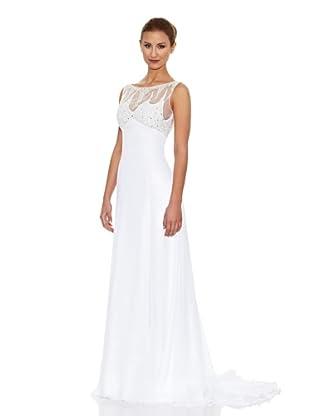KOTOSH Vestido de Novia en Chiffón de Satén corte Slip Dress (Blanco)