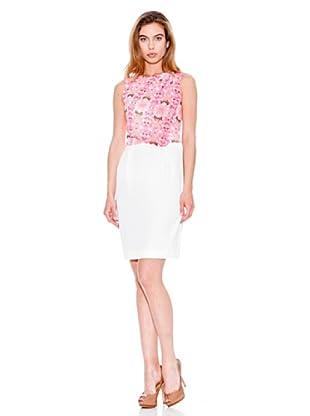 Mango Vestido Sorin (Rosa / Blanco)