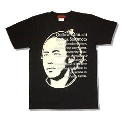 坂本龍馬/アウトローサムライTシャツ/メンズ/黒