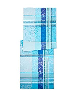 Garnier-Thiebaut Mille Asters Table Runner, Piscine