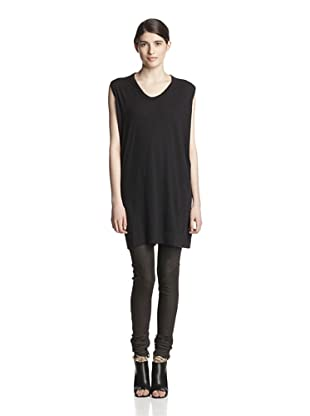 Rick Owens Lilies Women's Wide Shoulder Top (Black)