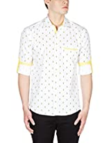 GHPC Men's 100% Cotton Casual Shirt(CS626402_38_Yellow)