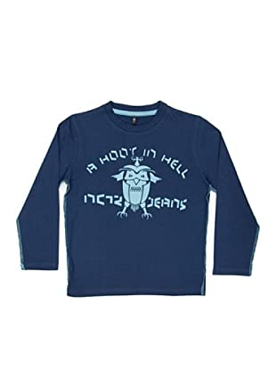New Caro Camiseta Scribble (Azul)