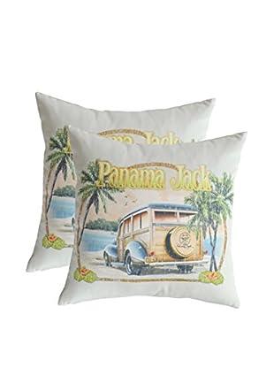 Panama Jack Set of 2 No Problems Throw Pillows, Multi