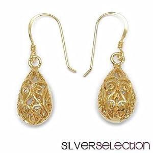 Silver Selection No Stone Brass Earrings