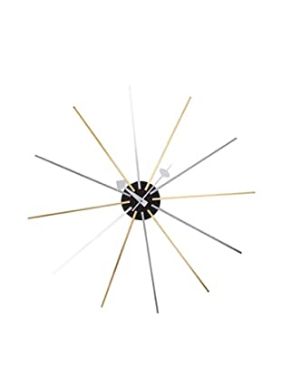 George Nelson Asterisk Clock (Silver/Gold)