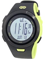 Soleus SR010 Ultra Sole Grey Digital Dial with Black and Lime Green Polyurethane Strap Watch, Men's