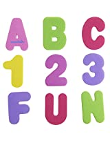 Munchkin 72 Bath Letters And Numbers, Pastel