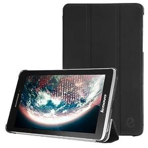 Exact Slender Series Ultra Slim Lightweight Smart-shell Stand Case for Lenovo Ideatab S5000 Black