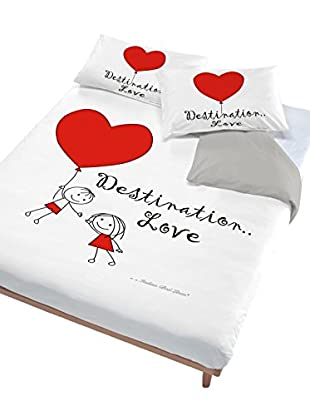 Italian Bed Linen Juego De Funda Nórdica Destination Love