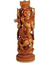 Exotic India Murali Krishna - Kadamba Wood Statue from Jaipur